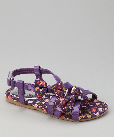 Purple Flower Apple Sandal