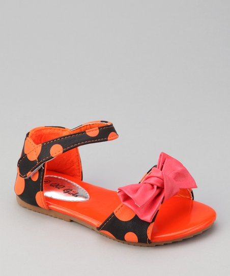 Orange Polka Dot Apple Sandal