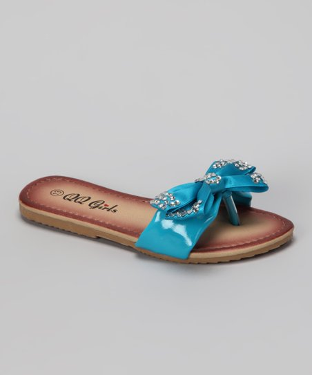 Blue Bow Play Flip-Flop