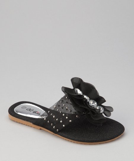 Black Play-12 Sandal - Girls