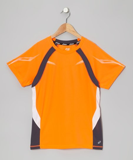 Shocking Orange Track Top - Boys