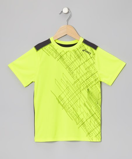 Safety Yellow Media Top - Boys