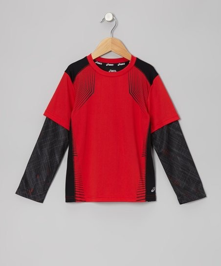 True Red Motion Layered Top
