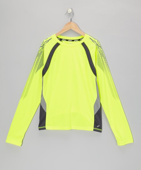 Safety Yellow Long-Sleeve Track Top - Boys