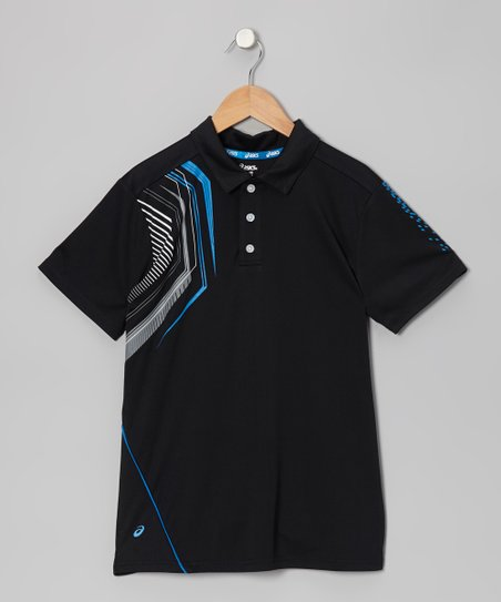 Black Keen Polo - Boys