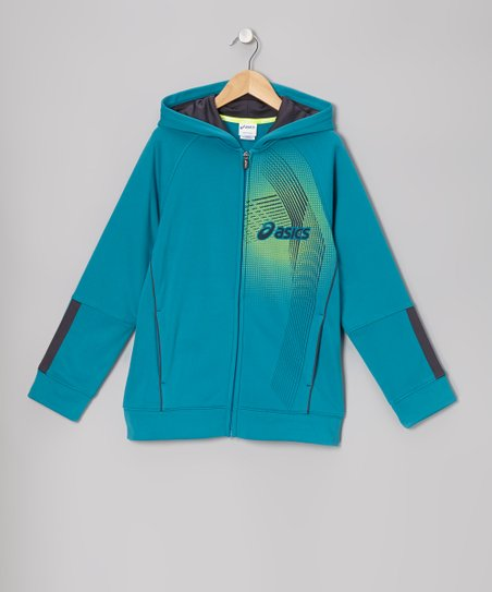 Caribbean Sea Motion Track Zip-Up Hoodie - Boys