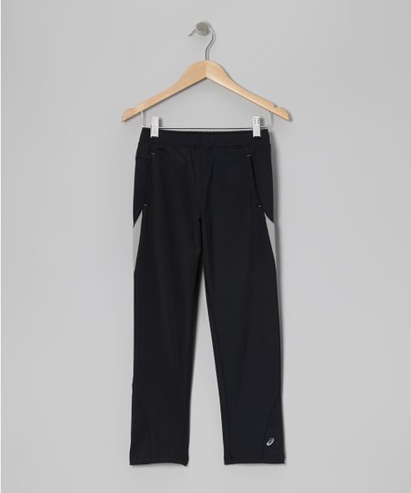 Black Motion Track Pants - Boys