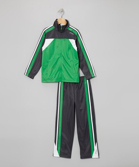 Fern Green Half-Time Track Jacket & Pants - Boys