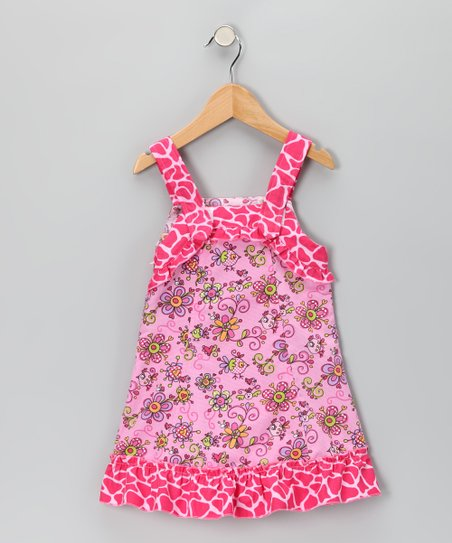 Pink Janea's World Mimi Dress - Toddler & Girls