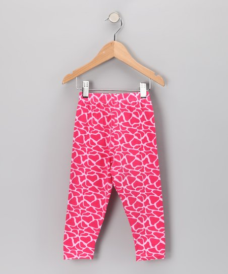Pink Giraffe Leggings - Toddler &amp; Girls