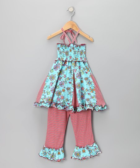 4EverPrincess Blue Janea's World Dress & Leggings - Toddler