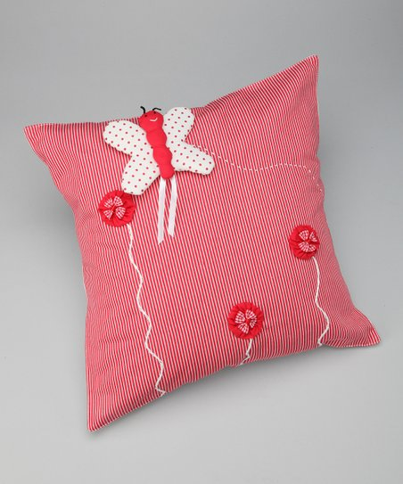 Red Butterfly Puppet Pillow