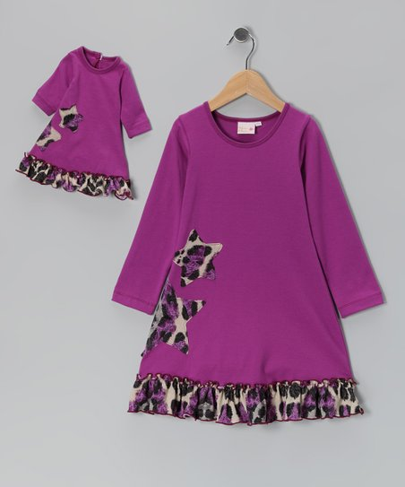 4EverPrincess Purple Sophia Dress & Doll Outfit - Girls
