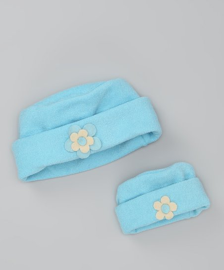 4EverPrincess Blue Little Lady Bow Hat Set