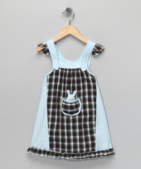 4EverPrincess Blue Plaid Smocked Pip Dress - Toddler & Girls