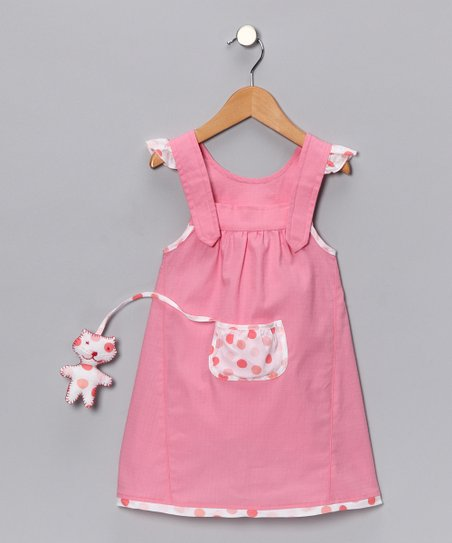 Pretty Pink Kitty Pip Jumper - Toddler & Girls