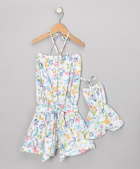 Blue Romper & Doll Outfit - Toddler & Girls