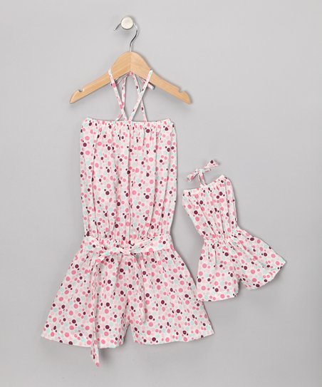 Pink Romper &amp; Doll Outfit - Toddler &amp; Girls