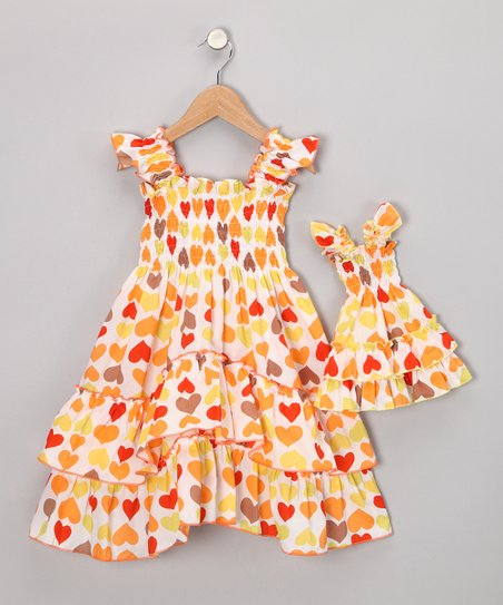 Yellow Heart Dress & Doll Outfit - Toddler