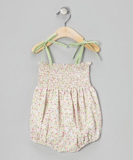 Pink Ditsy Floral Bubble Romper - Infant