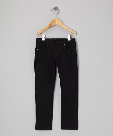 Black Marlin Straight-Leg Jeans