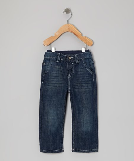 Dark Indigo Sand Relaxed Straight-Leg Jeans - Infant & Toddler