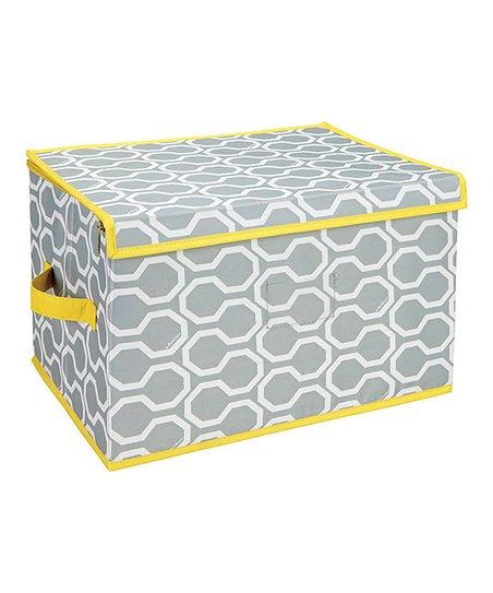 Graphite Dinah Large Zippered Storage Box