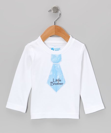 White 'Little Brother' Tie Tee - Infant & Toddler