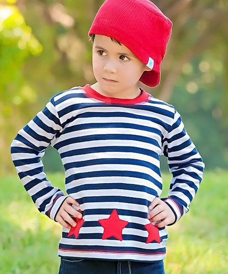 Navy & White Stripe Star Tee - Infant, Toddler & Boys
