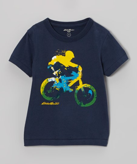 Navy Bicycle Tee - Toddler & Boys