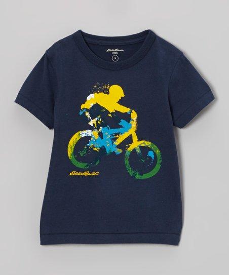 Navy Bicycle Tee - Toddler & Boys