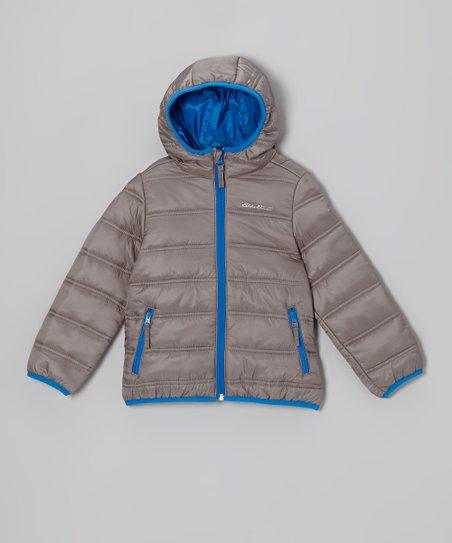 Cool Gray Puffer Jacket - Toddler & Kids