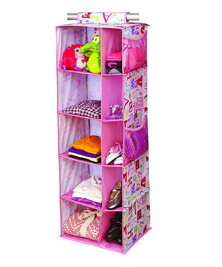 Owlphabet 10-Compartment Hanging Closet Organizer