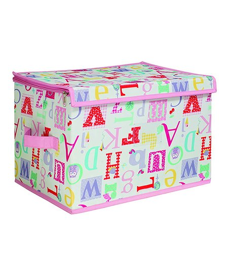 Owlphabet Medium Zippered Storage Box
