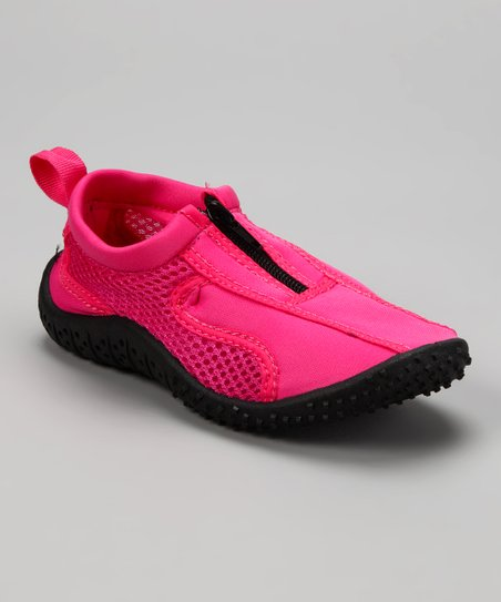Neon Pink Aqua Zipper Water Shoe