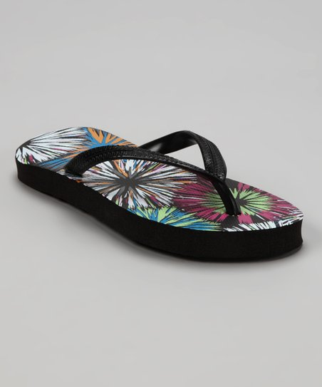 Black Bursts Flip-Flop - Kids