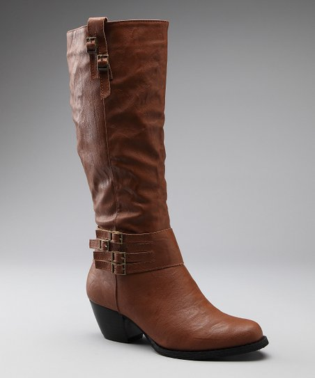 Cognac Buckle Boot