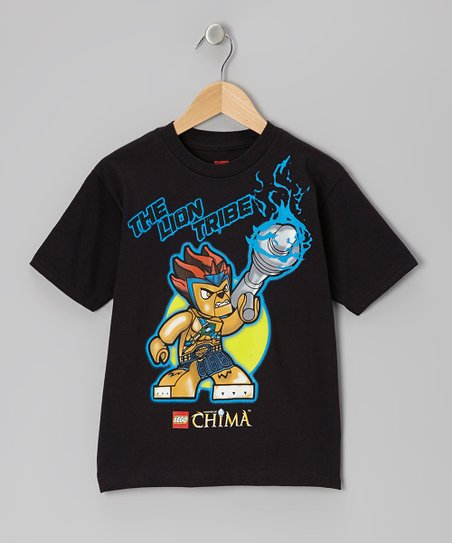 Black 'The Lion Tribe' Legends of Chima Tee - Kids