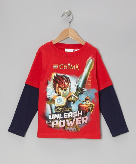 Red & Navy 'Unleash the Power' Chima LEGO Tee - Kids
