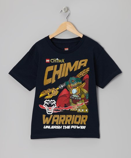 Navy 'Warrior' Legends of Chima Tee - Kids