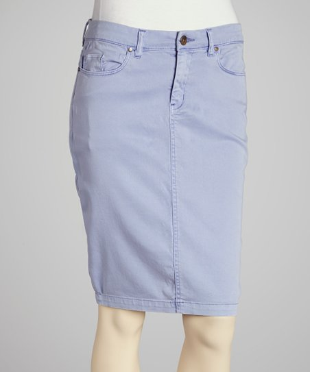 Lavender Denim Skirt