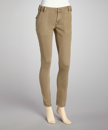 Beige Cobblestone Carpenter Skinny Pants
