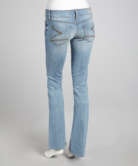 Kingston Low-Rise Blue Sandra Bootcut Jeans