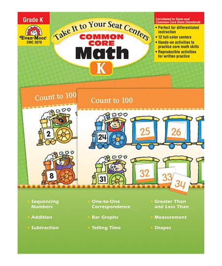 Common Core Math Centers Kindergarten Paperback