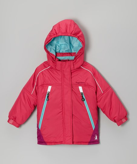 Fuchsia & Purple Snow Jacket - Infant