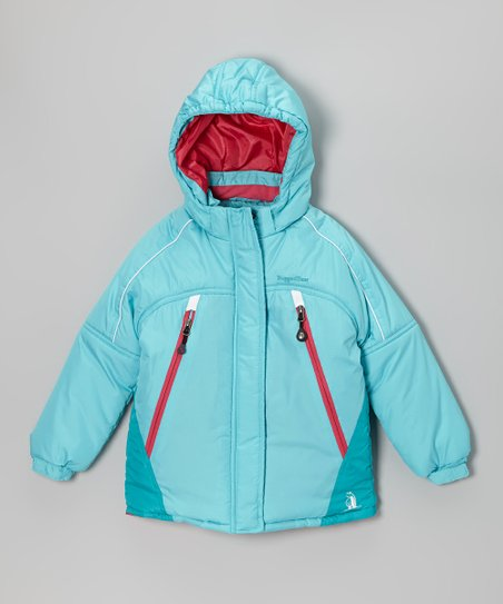 Turquoise & Hot Pink Snow Jacket - Infant