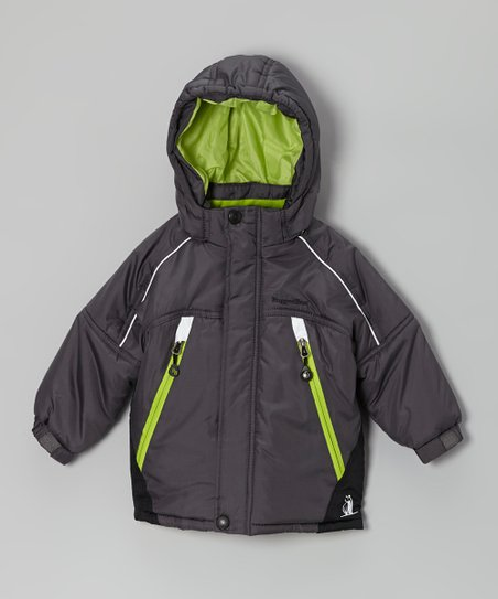 Charcoal & Lime Snow Jacket - Infant & Boys