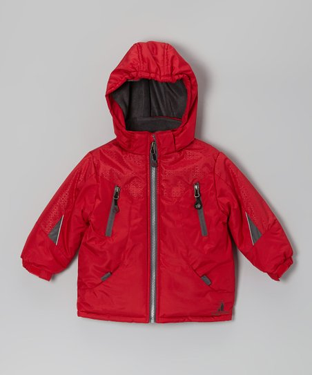 Red & Charcoal Snow Jacket - Infant & Boys