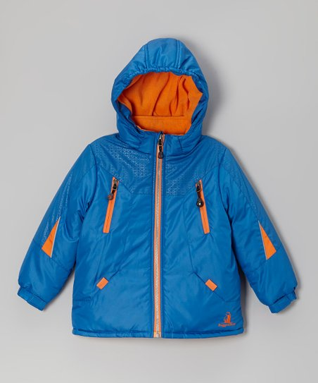 Royal & Orange Snow Jacket - Infant, Toddler & Boys