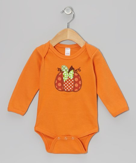 Orange Pumpkin Bodysuit - Infant
